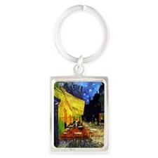 Van Gogh Cafe Terrace At Night Portrait Keychain