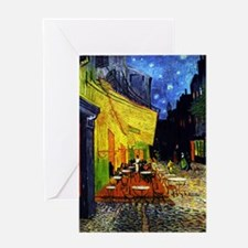 Van Gogh Cafe Terrace At Night Greeting Card