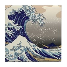 Hokusai The Great Wave off Kanagawa Tile Coaster