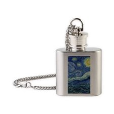 Van Gogh Starry Night Flask Necklace