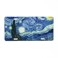 Van Gogh Starry Night Aluminum License Plate