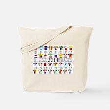 Football Shirts Tote Bag