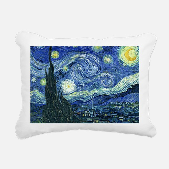 Van Gogh Starry Night Rectangular Canvas Pillow