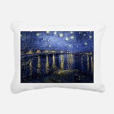 Van Gogh Starry Night Ov Rectangular Canvas Pillow