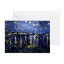 Van Gogh Starry Night Over Rhone Greeting Card