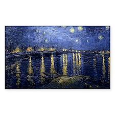 Van Gogh Starry Night Over Rho Decal