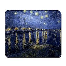 Van Gogh Starry Night Over Rhone Mousepad