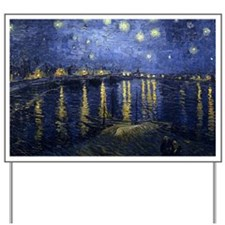 Van Gogh Starry Night Over Rhone Yard Sign