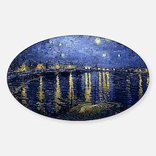 Van Gogh Starry Night Over Rhone Sticker (Oval)