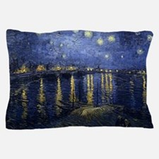 Van Gogh Starry Night Over Rhone Pillow Case
