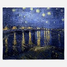 Van Gogh Starry Night Over Rhone King Duvet