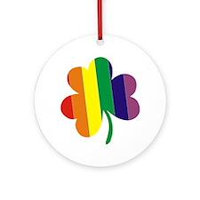 Irish Pride Shamrock Round Ornament