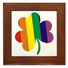 Irish Pride Shamrock Framed Tile