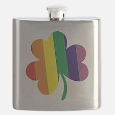 Irish Pride Shamrock Flask