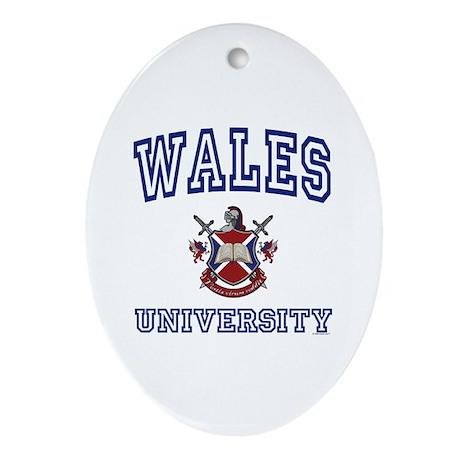 WALES University Oval Ornament