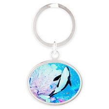 aqu_kids_all_over_828_H_F Oval Keychain
