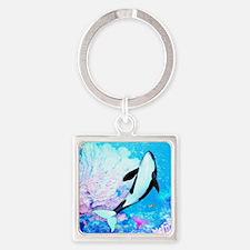 aqu_kids_all_over_828_H_F Square Keychain