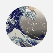 Hokusai The Great Wave off Kanagawa Round Ornament