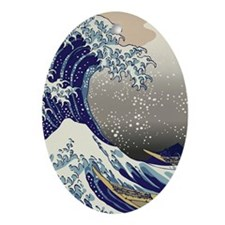 Hokusai The Great Wave off Kanagawa Oval Ornament
