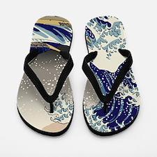 Hokusai The Great Wave off Kanagawa Flip Flops