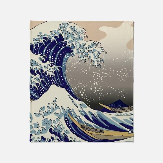 Hokusai The Great Wave off Kanagawa Throw Blanket