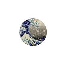 Hokusai The Great Wave off Kanagawa Mini Button