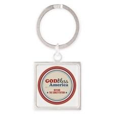 Defend The Constitution Square Keychain