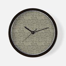 Brooklyn Hoods Wall Clock