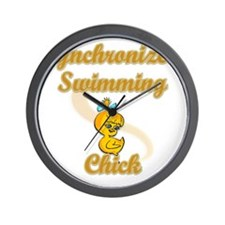 Synchronized Swimming Chick #2 Wall Clock