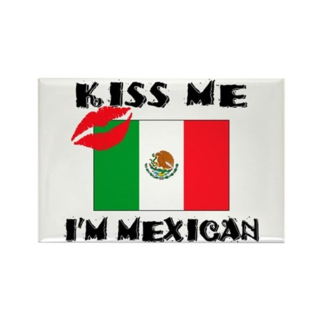 Kiss Me I'm Mexican Rectangle Magnet (100 pack)