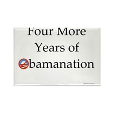 Four More Years of Obamanation 10 Rectangle Magnet