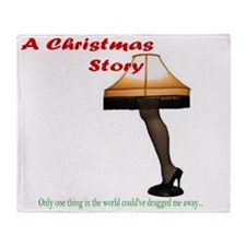 Christmas Story Electric Leg Lamp Throw Blanket