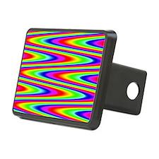 Psychedelic Rainbow Zig Za Hitch Cover