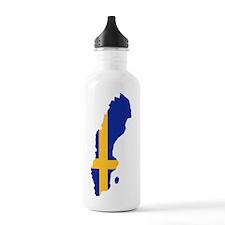 Sweden map flag Water Bottle