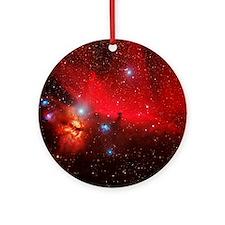 Horsehead and Flame nebulae Round Ornament