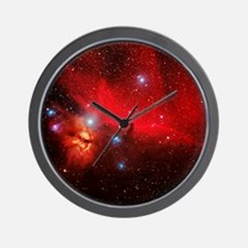 Horsehead and Flame nebulae Wall Clock