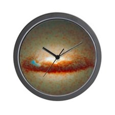 Hubble image of disc and black hole in  Wall Clock