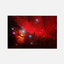 Horsehead and Flame nebulae Rectangle Magnet
