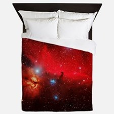 Horsehead and Flame nebulae Queen Duvet