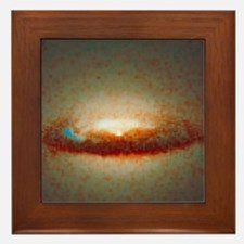 Hubble image of disc and black hole in Framed Tile