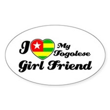 Togolese Girl friend Oval Decal