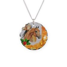 Merry Christmas, bay  chestn Necklace Circle Charm