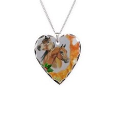 Merry Christmas, bay  chestnu Necklace Heart Charm