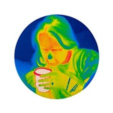 """Hot drink, thermogram 3.5"""" Button"""
