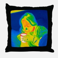 Hot drink, thermogram Throw Pillow