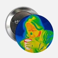 """Hot drink, thermogram 2.25"""" Button"""