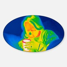 Hot drink, thermogram Sticker (Oval)