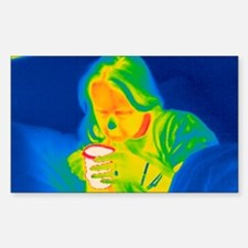Hot drink, thermogram Decal