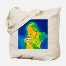 Hot drink, thermogram Tote Bag