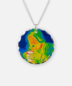 Hot drink, thermogram Necklace